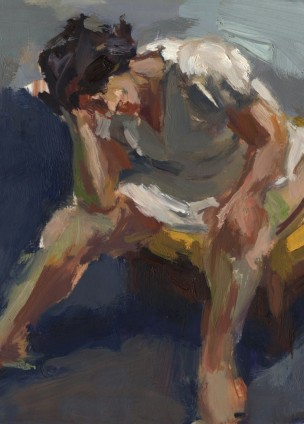 Oil on Vellum, Marsha Study, Anne Petty