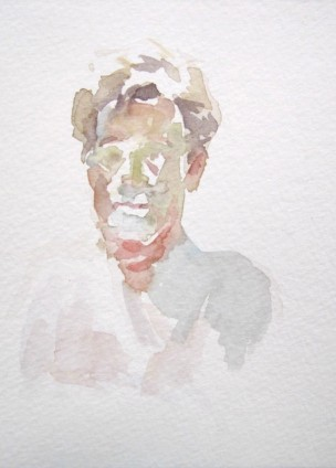 Watercolor on Paper, Gary Portrait, Anne Petty